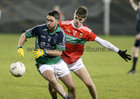 Oughterard v The Neale Connacht Intermediate Football Final at MacHale Park, Castlebar.<br /> Steven Conroy, Oughterard, and Fergal Sweeney, The Neale