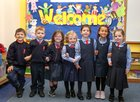 William, Kaylem, Katelyn, Emma, Kayleigh, Ella and Erin who have started school at Scoil Rois, Taylors Hill.