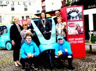 <br /> At the launch of Galways Gum LItter  Awareness Programme, at the Square Clifden, were: kneeling Philip Noone and Matthew Cahill, standing Sinead Ni Mhainnáin, Nuala Cashin, Thomas O Sullivan, Town Warden; Cllr Eileen Mannion, Mayor of County Galway; Mark Molloy and Sheila Griffin.