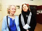 Deirdre Herbert and Rosemary Little, Knocknacarra, at the opening of the Eadain Madigan Art Exhibition at the Kenny Art Gallery,  Liosban Retail Park , Tuam Road.