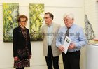 <br /> Artist Eadain Madigan, with Professor Felix O Murchadha and Tom Kenny,  at the opening of her Art Exhibition at the Kenny Art Gallery,  Liosban Retail Park , Tuam Road.
