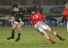 Connacht v Munster Guinness PRO14 game at the Sportsground.<br /> Connacht's Alex Wootton and Munster's Chris Farrell