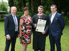 Dr. John Martin from Craughwell with his parents Sean and Anne and brother Edward, after he was conferred with the degrees of M.B. B.Ch. B.A.O., Honours, at NUI Galway.