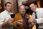 Writer and chef Paolo Tullio (centre) with Martin Forde, Head Chef, and Dermot Mulhall, Restaurant Manager, at the opening of the Balcony Restaurant at Tom Sheridans, Knocknacarra.