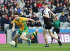 Corofin v Kilcoo AIB GAA Football All-Ireland Senior Club Championship final at Croke Park.<br /> Corofin's Mike Farragher and Kilcoo's Ryan McEvoy
