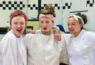 "Colaiste Iognaid students Jessica Barrett, Meadhbh Hannon and Aoife McGovern during rehearsals for their musical ""Hot House"". The in-house production will run in the Jesuit Hall at the school in Sea Road from Tuesday March 13 to Thursday March 15."