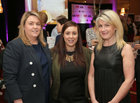 Niamh Stack and Sarah Grealish, Clayton Hotel Gaillimh, Gearrliosta an Ghradaim and Maeve Joyce-Crehan, Manager of the Galway Chamber at the Gradam Sheosaimh Uí Ógartaigh awards ceremony which took place in the Salthill Hotel, Gaillimh.<br />