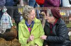 Enjoying  the Maam Cross Fair on Tuesday were Angela Burke from Coshla, Athenry, and Nellie Cannon, Ballydavid, Athenry.