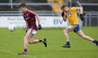 Galway v Roscommon Minor Football semi-final at the Pearse Stadium.<br /> Galway's Liam Boyle and Roscommon's Evan Flynn