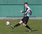 Loughrea v Galway Hibs at Bohermore.<br /> Shane Hulgraine scoring his first goal for Galway Hibernians