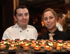 Martin Forde, Hed Chef, and Cathy Gavin at the opening of the Balcony Restaurant at Tom Sheridans, Knocknacarra.