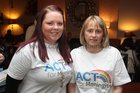 Volunteers Daine O'Connor and Aileen Flanagan at the launch of ACT for Meningitis at the House Hotel.