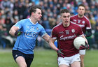Galway v Dublin Allianz Football League Division 1 game at the Pearse Stadium.<br /> Galway's Eamonn Brannigan and Dublin's Philip McMahon