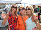 Linda Coleman, Elaine Flynn and Gerldine Dolan from Ballinasloe at the Galway International Food and Craft Festival in Salthill Park last weekend.